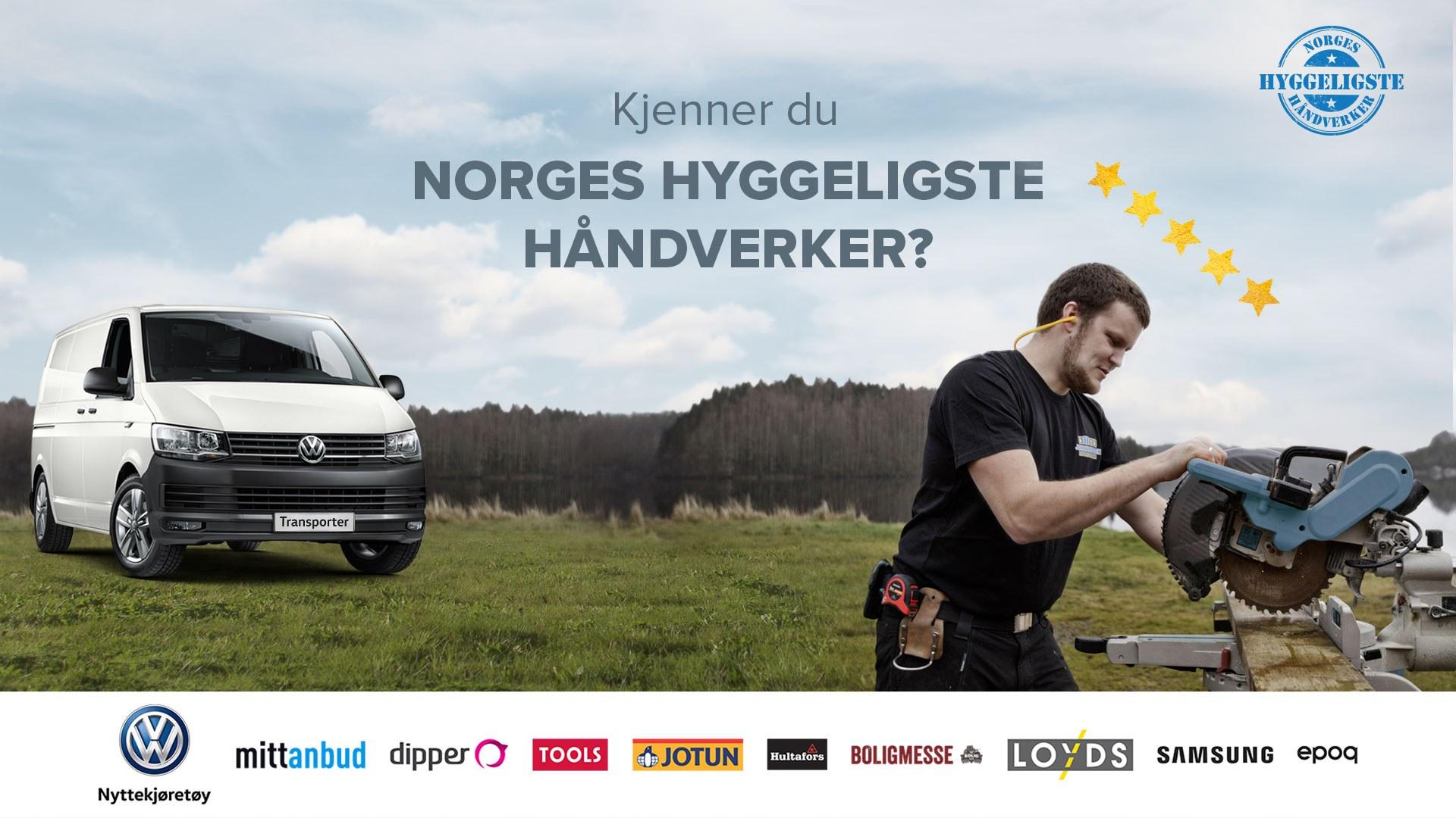 Hvem er Norges Hyggeligste Håndverker 2018?