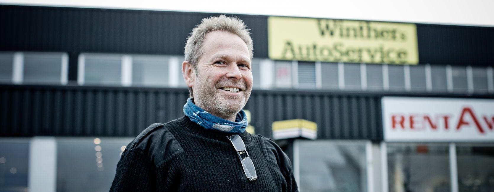 Portrettbilde av en smilende Terje Winther
