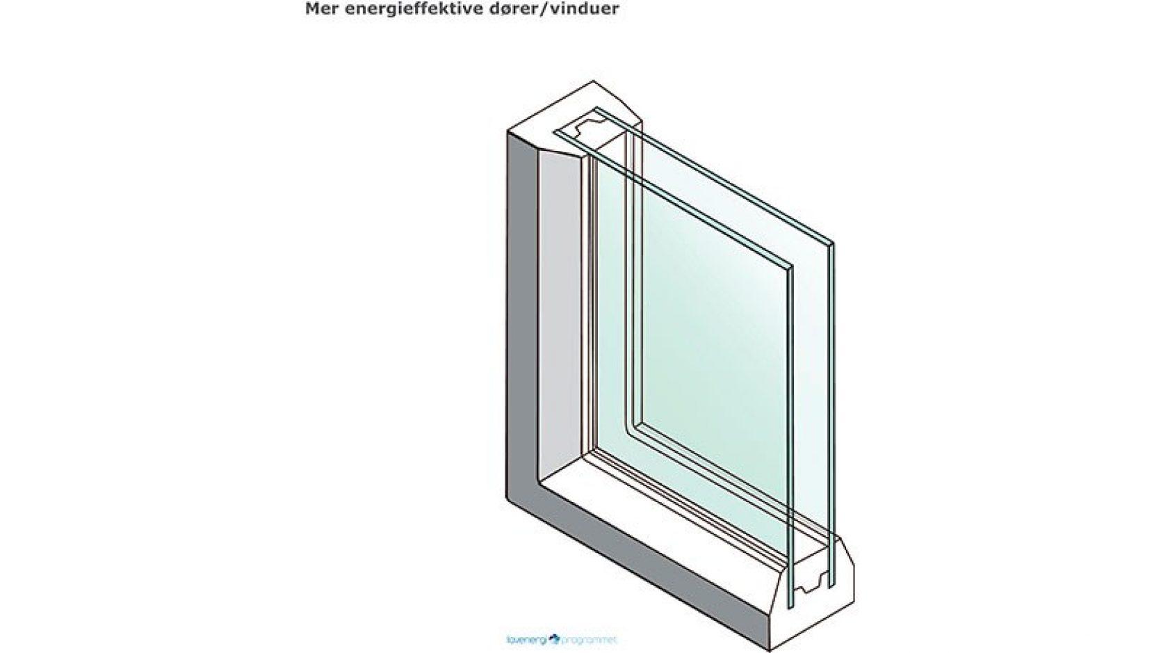 Illustrasjon av energieffektivt vindu