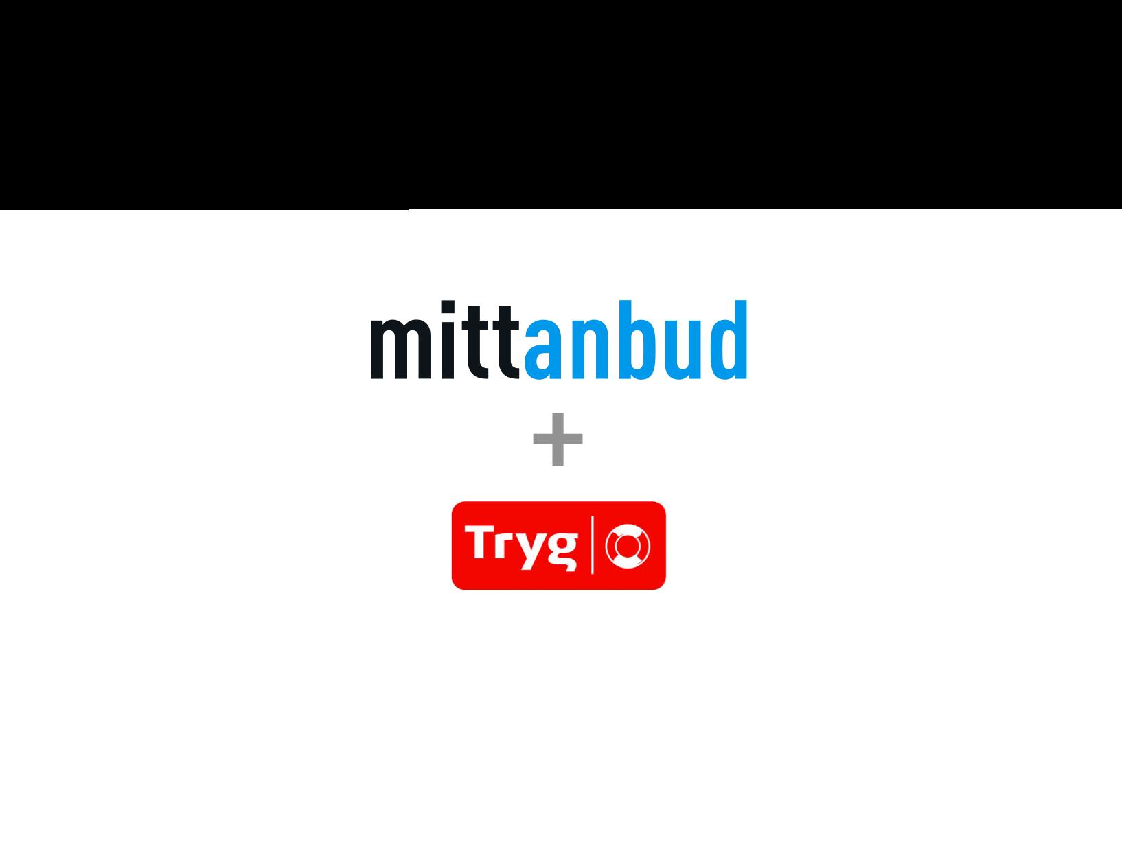 Mittanbud og Tryg Forsikring logo inni et hjerte