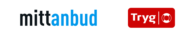Logoer til Mittanbud og Tryg Forsikring