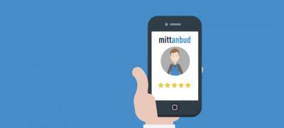 Illustrasjon av Mittanbud på en mobiltelefon