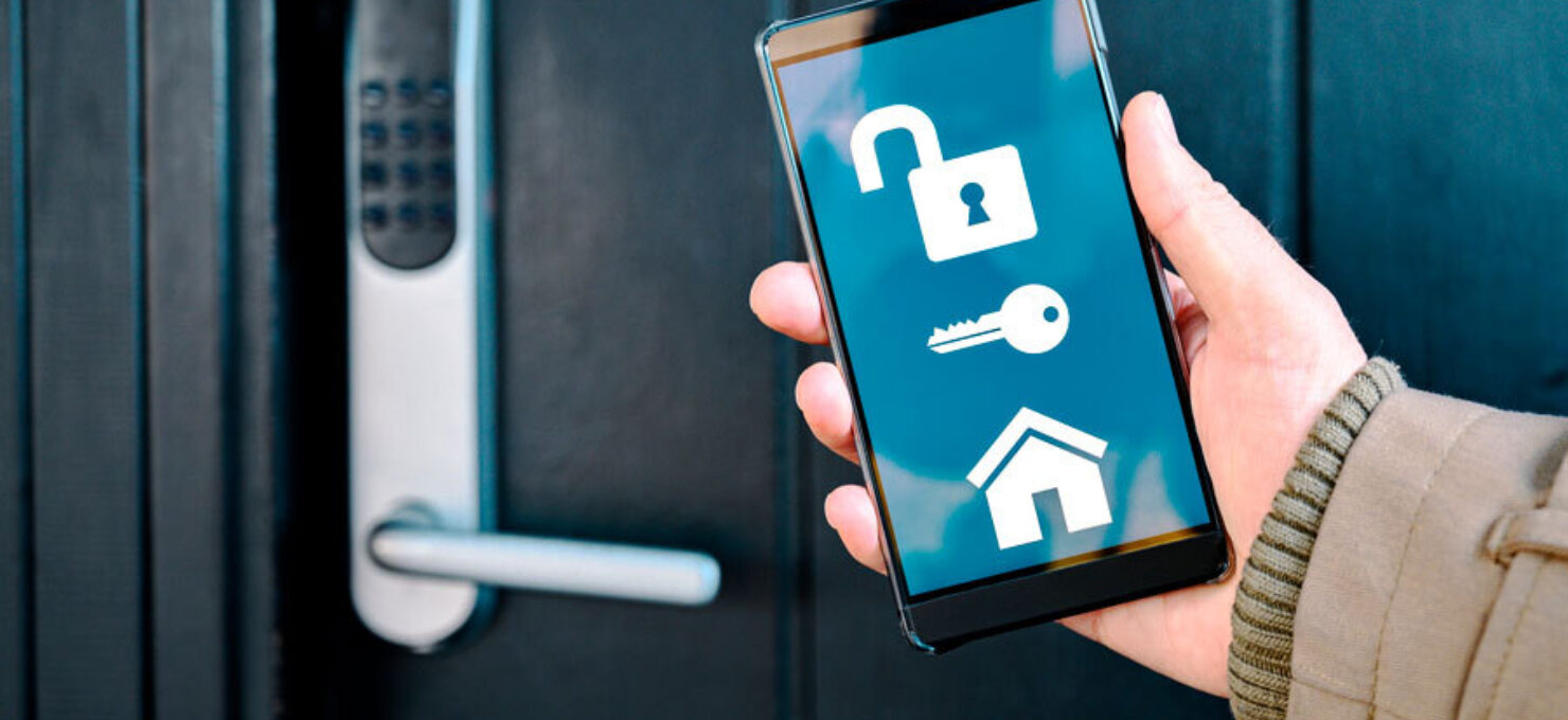 Ytterdør med digital lås
