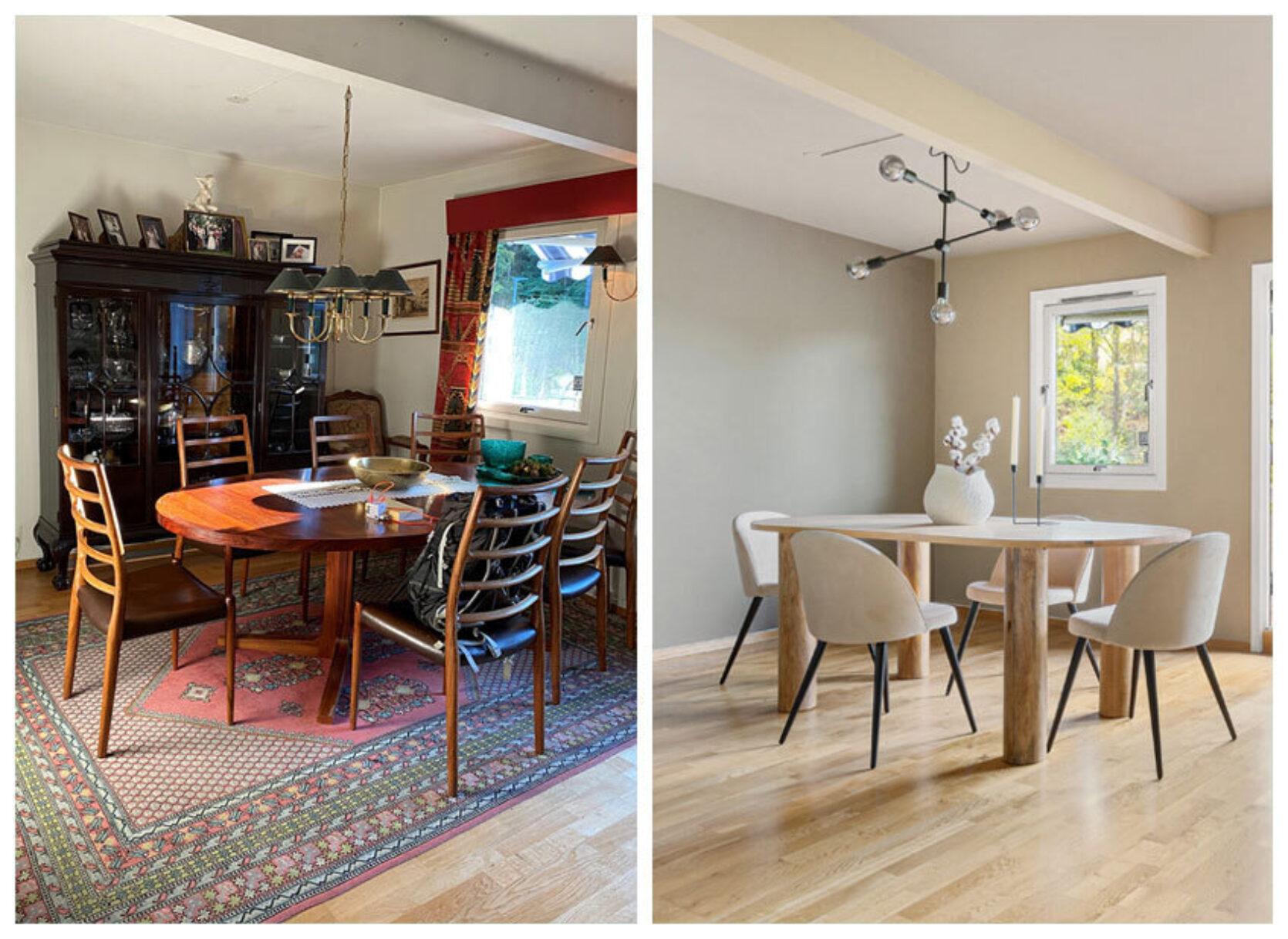 Før og etter: En gammeldags stue blir fort moderne med rett grep