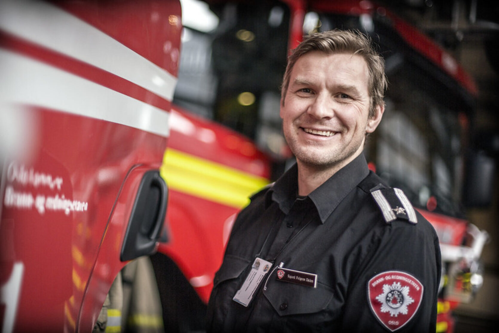 Sigurd Folderø Dalen, branninspektør og fungerende infosjef i Oslo Brann- og redningsetat. Foto: Lars Magne Hovtun/Oslo brann- og redningsetat