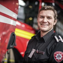 Sigurd Folgerø Dalen branninspektør og fungerende infosjef i Oslo Brann- og redningsetat.